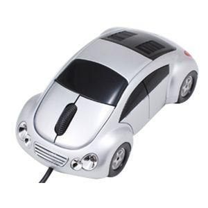車型オプティカルマウス(スピーカー付) VR-16888 シルバー
