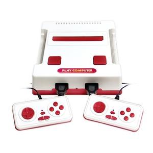 ファミコンソフトプレイヤー 【ゲーム118種類内蔵】 幅17cm コントローラー×2 アダプター付き 『プレイコンピュータ レトロ』