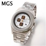 MGS メンズ クロノグラフ ブレスウォッチ