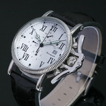 【Salvatore Marra】レトログラードクロノグラフ腕時計 SM6018-WH