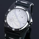 【Salvatore Marra】デュアルタイム腕時計 SM8007-WH