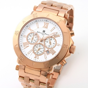 【Salvatore Marra】クロノグラフ腕時計 SM8005-PGWH