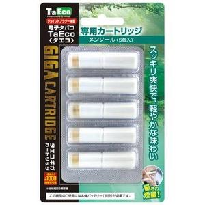 「TaEco」(タエコ)専用交換ギガカートリッジ(メンソール)5本入り