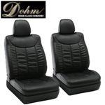 Dohm製 本革調シートカバー Sedanモデル マークX用 【T160】 ブラック 1台分