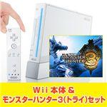 Wii本体【シロ】&モンスターハンター3(トライ) セット