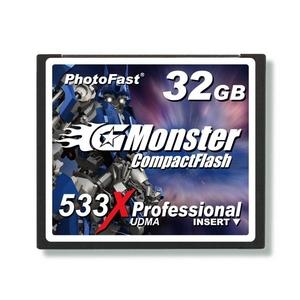 PhotoFast G-Monster 533倍速 PLUSテクノロジー コンパクトフラッシュカード32GB GM-533CF32ML
