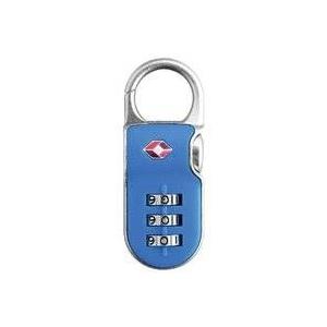 【防犯グッズ:旅行用】YALE(エール) 旅行用TSAロック(CLIP ON LOCK)ブルー