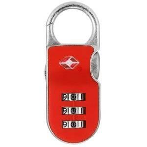 【防犯グッズ:旅行用】YALE(エール)旅行用TSAロック(CLIP ON LOCK) レッド