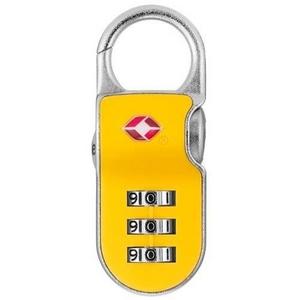 【防犯グッズ:旅行用】YALE(エール)旅行用TSAロック(CLIP ON LOCK)イエロー