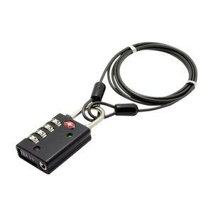 ミヨシ TSAロック インジケータ機能付き4ダイヤルタイプ MBZ-TI4/BK