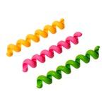 ミヨシ(MCO)シリコンスパイラルチューブ 3本入り 緑、橙、桃 CH-SPH/AS2 【3個セット】