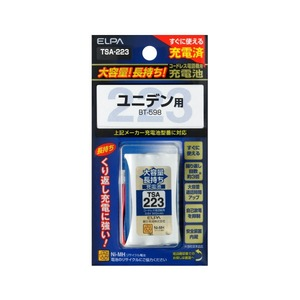ELPA コードレス電話機用 大容量長持ち充電池 [ユニデン用] TSA-223