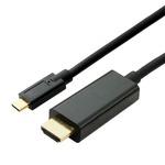 ミヨシ(MCO) Type-C-HDMIケーブル 2m ブラック USB-CHD2/BK
