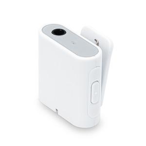 PGA Bluetooth 4.2 搭載 ワイヤレス オーディオレシーバー 3ボタンタイプ ホワイト PG-BTR02WH