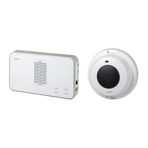 ELPA ワイヤレスチャイム 受信機+防水押ボタンセット EWS-S5032