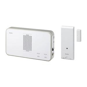 ELPA ワイヤレスチャイム 受信器+ドアセンサー送信器セット EWS-S5034