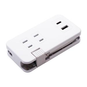 ミヨシモバイルUSB-ACタップ(USB-Aポート・USB-Type-Cポート・ACコンセント付) IPA-24AC3/WH(ホワイト)