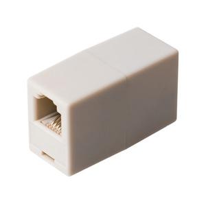 ミヨシ 6極4芯対応電話機コード延長アダプタ ホワイト5個セット DA-40/WH-5P