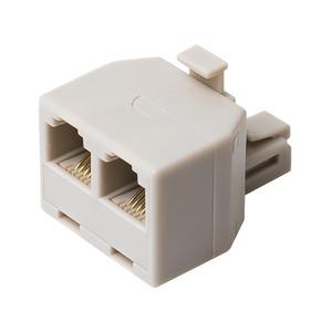ミヨシ 6極4芯対応電話機コード分配アダプタ直挿しタイプ ホワイト5個セット DA-42/WH-5P