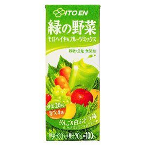 伊藤園 緑の野菜 モロヘイヤ&フルーツミックス 200ml 48本セット