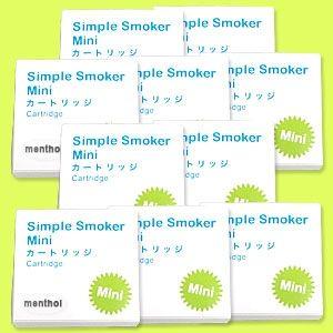 【安全な国産カートリッジ】電子タバコ NEW「Simple Smoker Mini(シンプルスモーカーMini)」 専用カートリッジ メンソール味 50本セット