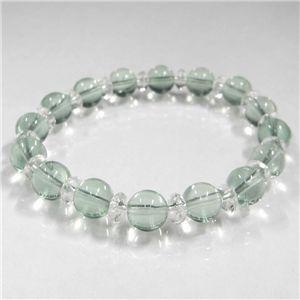 グリーンフローライト&天然本水晶ブレス