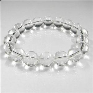 手彫り白蛇(1珠)水晶ブレス 12mm