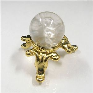 手彫り龍 天然水晶丸球(天然水晶20mm珠)