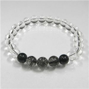 ブラックルチル(3珠)ブレス 8mm