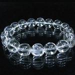 手彫り白蛇(1珠) 本格天然水晶ブレス
