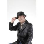 【G・ガリアーノ】折りたためる柔らかラム革帽子 ブラック Mサイズ