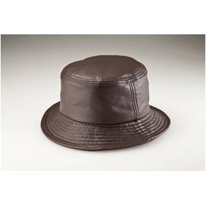 【G・ガリアーノ】折りたためる柔らかラム革帽子 ブラウン Mサイズ