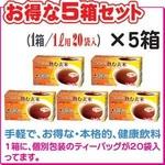 【5箱セット】ノンカロリー・ノンカフェイン・玄米100%『玄米まるごと茶』・クールもホットもOK