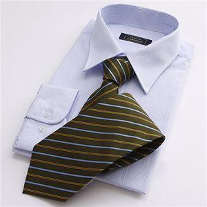 【09'銀座・丸の内のOL100人が厳選!】カラー系ワイシャツ&ネクタイ14点セット Lサイズ