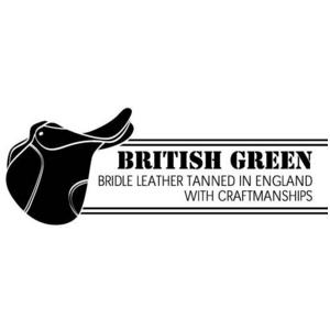 BRITISH GREEN(ブリティッシュグリーン) ブライドルレザー2つ折り財布 グリーン