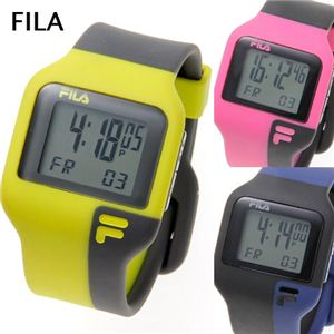 FILA(フィラ) タッチライト ツートン デジタルウォッチ イエロー×グレー