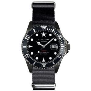 OXYGEN(オキシゲン) 腕時計 Diver 40(ダイバー 40) Moby Dick Black(モビー ディック ブラック) ブラック