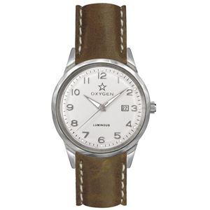 OXYGEN(オキシゲン) 腕時計 SPORT VINTAGE 40(スポーツ ヴィンテージ 40) Fjord(フィヨルド) Classic Leather シルバー