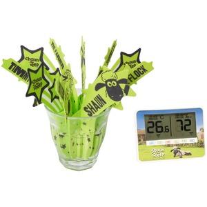 ひつじのショーン 温湿度計/うるおいモイスチャー加湿器 セット
