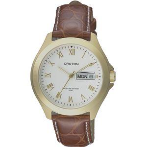 CROTON(クロトン)  腕時計 3針 デイデイト 日本製 10気圧防水 RT-144M-B