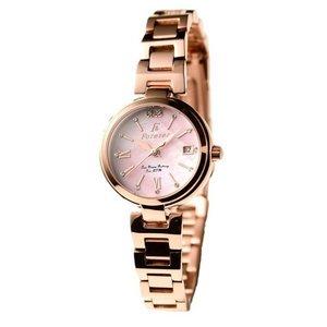 Forever(フォーエバー)  腕時計 デイト付き FL-1201-9 ピンクシェル