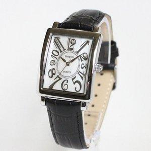 Forever(フォーエバー)  腕時計 1Pダイヤ  FG-330SIWH ホワイト×ブラック