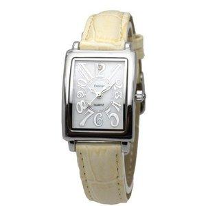 Forever(フォーエバー)  腕時計 1Pダイヤ  FL-330SIWH-IV ホワイト×アイボリー