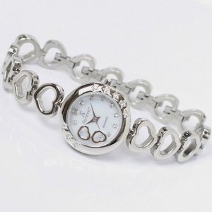 Forever(フォーエバー)  腕時計 1Pダイヤ  FL-1207-1 ホワイトシェル×シルバー