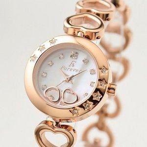 Forever(フォーエバー)  腕時計 1Pダイヤ FL-1207-1PG ホワイトシェル×ピンクゴールド