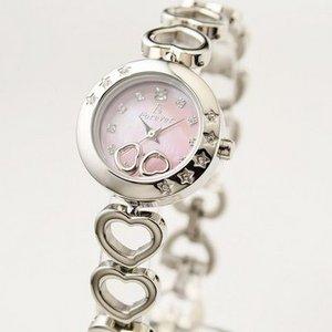 Forever(フォーエバー)  腕時計 1Pダイヤ FL-1207-2 ピンクシェル×シルバー