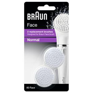 【本体別売】Braun(ブラウン) フェイス専用脱毛器 SE810用 毛穴すっきり洗顔ブラシ 80-FACE