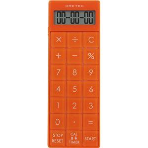 dretec(ドリテック) 電卓付長時間タイマー CL-116OR オレンジ