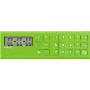 dretec(ドリテック) 電卓付長時間タイマー「バール」 CL-117GN グリーン