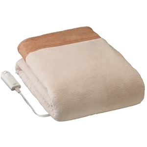 リフォン 電気毛布/防寒具 【掛け敷き毛布 ダブルサイズ】 190cm×180cm 2時間後自動OFF 本体丸洗い
